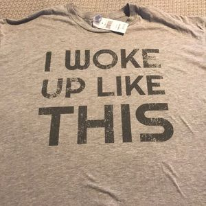 """Other - Graphic T Shirt """"I woke up like this"""" XXL"""